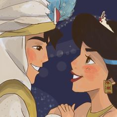 Aladdin and Jasmine drawing