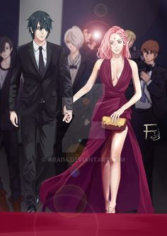 SasuSaku couple in red carpet by Arai14 on DeviantArt