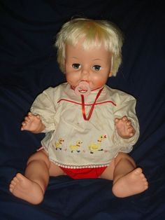 Vintage BABY BOO DOLL 1965 Deluxe Reading Corp. #150 pacifier #150 CUTIE!
