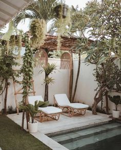 outdoor oasis backyard with pool / outdoor oasis _ outdoor oasis backyard _ outdoor oasis on a budget _ outdoor oasis backyard with pool _ outdoor oasis backyard on a budget _ outdoor oasis on a budget diy ideas _ outdoor oasis diy _ outdoor oasis ideas Outdoor Spaces, Outdoor Living, Outdoor Decor, Outdoor Pool, Exterior Design, Interior And Exterior, Modern Exterior, Backyard Patio, Patio Swing