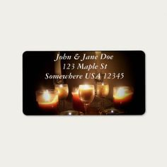 A Photograph of lit candles on an address labels Size: x Color: White. Candle Labels, Candle Jars, Candles, Custom Address Labels, Candle Shop, How To Be Outgoing, Create Yourself, Words, Gender