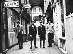 """Members of the British band, """"The Beatles"""""""