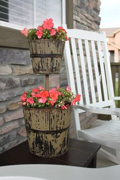 two tier planter....love this idea