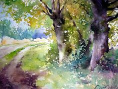 watercolor by Jean-Claude Papeix