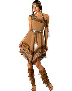 native american costumes | Party City - Adult Native American Maiden Costume Elite customer ...