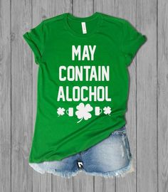 897aaa9f Caution May Contain Alcohol Fun Irish Shirt -St. Patricks day Ladies top -  Beer