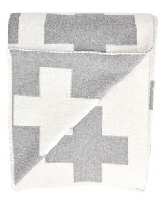 6ee319bdd Swiss Cross Crux Reversible Blanket Throw   LEIF Cozy Blankets