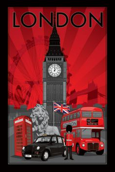 London - Decoscape Poster