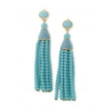 Turquoise Tle Clip Earring From Kenneth Jay Lane