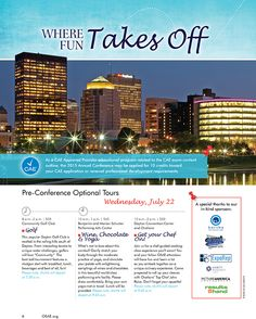 Direct Mail Piece with Dayton Skyline photograph by Jim Crotty for the Ohio Society of Association Executives