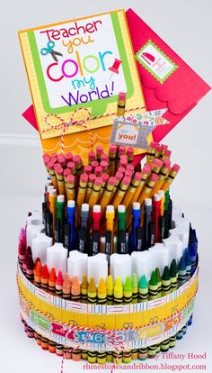 Doodlebug Design Inc Blog: Tuesday Tutorial: Back to School Supply Tower by Tiffany