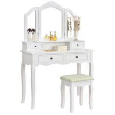 Kozmetické a toaletné stolíky Dresser Table, 4 Drawer Dresser, Drawers, Table Sizes, Closet Bedroom, Marie Antoinette, Stool, Vanity, Design Inspiration