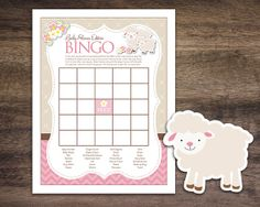 Instant Download Little Lamb Theme Baby Shower by Studio20Designs, $1.50