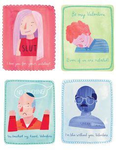 Arrested Development Valentine's Day Cards by Marisa Seguin Illustration & Design