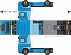 Paper Truck Cutouts | Trailer-Brinks