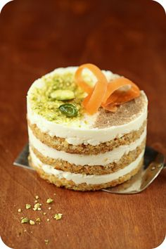 Pretty Mini Carrot Cake with Orange Cream-Cheese Frosting