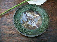 1970s Japanese Bronze WAKO Magnifying Glass Paper Weight