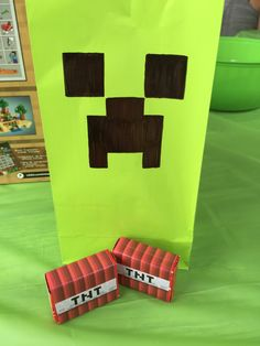 I used firework poppers as TNT in the kids' goodie bags at my son's Minecraft birthday party.  The kids LOVED them!  I also included stickers, green Creeper glow sticks, bookmarks and punch balloons.  jnsteele