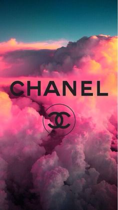 !!TAP AND GET THE FREE APP! Girlish	Abstract Girly Clouds Pink Chanel Brand Fashion Logo HD iPhone 5 Wallpaper
