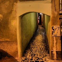 Strada sforii (Romanian for 'String street' ) is the narrowest street in the city of Braşov, Romania. It is believed to be one of the narrowest streets in Europe