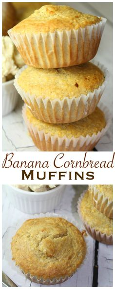Banana Cornbread Muffins Tall Pin