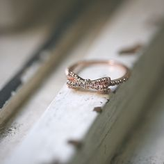 CZ Ribbon Bow Ring Rose Gold - kellinsilver.com