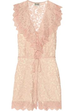 Alice by Temperley Surya lace playsuit