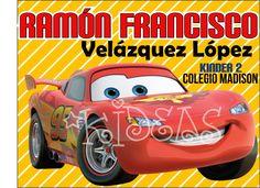 McQueen Cars #back2school #etiquetas #escolares #stickers #etiquetatodo #maskideas