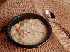 Cream of Chicken and Wild Rice Soup #mushroom #hearty #justapinchrecipes