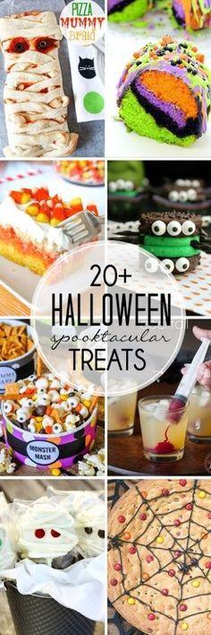 Halloween Treats   20+ spooktacular recipes via Skinny Chick Can Bake
