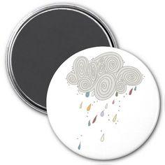 Colorful Rain Cloud Magnet