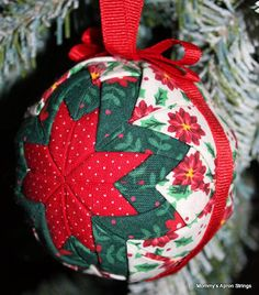 Tutorial on how to make these quilted star Christmas ornaments-use ... : quilted ornaments to make - Adamdwight.com