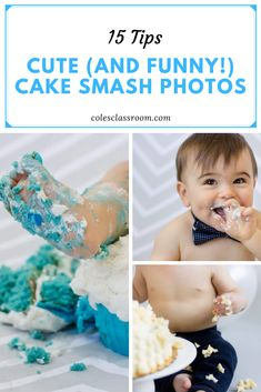 Baby cake smash sessions are filled with so many cute and funny moments. Read on to learn our 15 secrets to deliciously perfect cake smash photos. Newborn Photography Tips, Portrait Photography Tips, Cake Smash Photography, Food Photography Tips, Creative Photography, Family Photography, Baby Cake Smash, Baby Cakes
