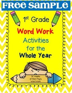 This FREE SAMPLE gives you TWO WEEKS of word work activities (Mon-Thurs) practice. You can use these in so many ways: word work center, homework, morning work, early finishers work, classwork, etc. Each week, the students will be presented with two new word families: Mondays - kids will read a passage that I specifically wrote to incorporate those two word families.
