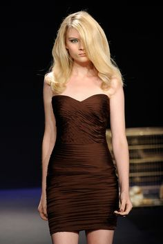 Jad Ghandour Spring 2012 Collection -- Brown Strapless Dress