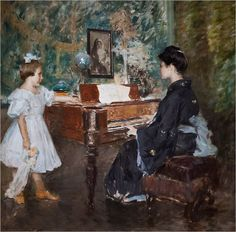"William Merritt Chase ""The Music Lesson"""