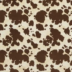 E413 Brown Cow Animal Print Microfiber Upholstery Fabric (By The Yard) #Unbranded