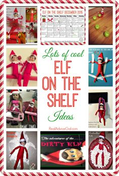 Lots of cool and fun Elf on the Shelf Ideas