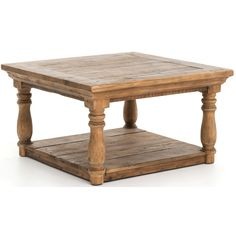 High Fashion Home - Elizabeth Coffee Table, Bleached Pine Four Hands