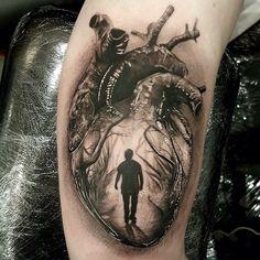 Awesome black and grey tattoo by Luke Sayer @inkedone #tattoo #tattoos #blacktattoo #tattooart #tattoowork #tattooing #tattooed #tattooinspiration #hart #harttattoo #besttattoo #worldtattoogallery #inkedmag #tattoomag #tattoolife #art #artwork