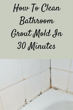 Discover how to clean bathroom grout mold without the need for scrubbing in 30 minutes.Quickly turn your moldy grout sparkling white again. Cleaning Bathroom Mold, Cleaning Mold, Mold In Bathroom, House Cleaning Tips, Diy Cleaning Products, Cleaning Hacks, Spring Cleaning, Small Bathroom, Bathrooms