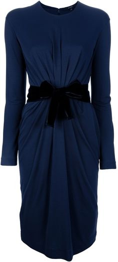 Gathered Belted Dress Gucci