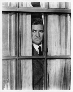 Rod Taylor stares out a window in a scene from the film 'The Birds',. Hollywood Actor, Classic Hollywood, Old Hollywood, Old Movies, Vintage Movies, Alfred Hitchcock The Birds, Hitchcock Film, Tomorrow Is Another Day, Australian Actors
