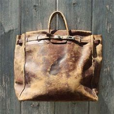 Vintage Distressed Bag: Its Like A Hermes Birkin On Testosterone Gone On A Wilderness Adventure.