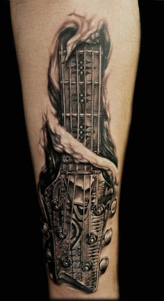 Tattoo, Giger style guitar
