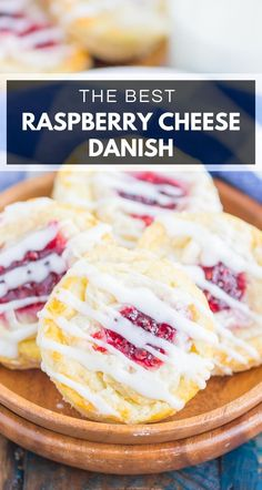 Raspberry Cream Cheese Danish make an easy breakfast or dessert that's ready in just 30 minutes. With a sweet raspberry cream cheese filling and a buttery, flaky crust, this simple treat is fun to make and even better to eat! #danish #creamcheese #creamcheesedanish #danishrecipe #raspberrydanish #breakfast #dessert #easybreakfast #easydessert Home Made Cream Cheese, Cream Cheese Danish, Danish Recipe Easy, Easy Desserts, Dessert Recipes, Sweet Desserts, Baking Recipes, Easy Recipes, Recipes Using Puff Pastry