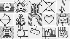 Icons / Lines / Outlines / Grid /// Man Seeking Woman by Elliot Lim on Behance