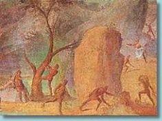 I Lestrigoni attaccano Ulisse e i compagni. Pittura parietale dalla Casa sull'Esquilino, I sec. Musei Vaticani