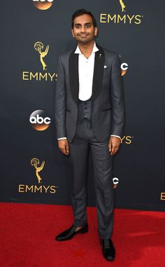 Aziz Ansari from 2016 Emmys Red Carpet Arrivals