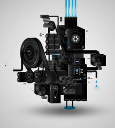 The Machines by David Mascha, via Behance